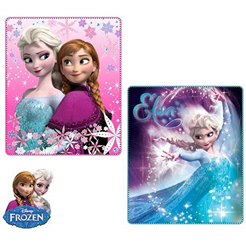 Disney Frozen Die Eiskönigin Anna & ELSA - Fleecedecke 120 x 140 cm INKLUSIVE schicker Geschenktüte Trendstern Fleecedecke Set Verschiedene Motive wählbar (Motiv 2)