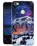 Caler Funda Xiaomi Redmi Note 5A Case, Suave TPU Gel Silicona Ultra-Delgado Ligera Anti-rasguños Dibujos Protección Patrones Mundo Color Carcasa (Montaña de Nieve)