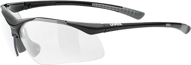 uvex sportstyle 223, Sportbril Unisex-Volwassene, black grey/clear, one size