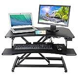 Kranich Höhenverstellbarer Schreibtisch Elektrisch Steharbeitsplatz Monitorständer Sitz-Steh-Schreibtisch Sit-Stand Workstation