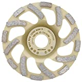"PRODIAMANT Profi Diamond Grinding Cup Wheel Concrete 125 mm 5"" x 22.2 mm Diamond Grinding Head PDX82.918 125mm Concrete/Natural Stone Suitable Angle Grinder"