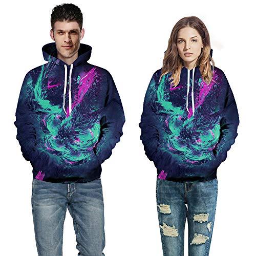 Tzzdwy Gepersonaliseerde Creatieve Hoodie Digitale Print Hoodie Honkbal Draag Trendy Paar Coltrui Sweatshirt Sportjack