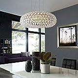 Lámpara de pared Lujosa lámpara de araña de cristal con forma de círculo, accesorio de iluminación de cristal, iluminación colgante para comedor, dormitorio, estar (todo fósforo (sin fuente de luz))