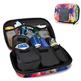 USA Gear Hard Shell Toiletry Travel Bag Organizer Kit with Customizable Storage Pockets - Perfect for Carrying Shampoo , Conditioner , Body Wash , Shaving Supplies and More Toiletries - Geometric