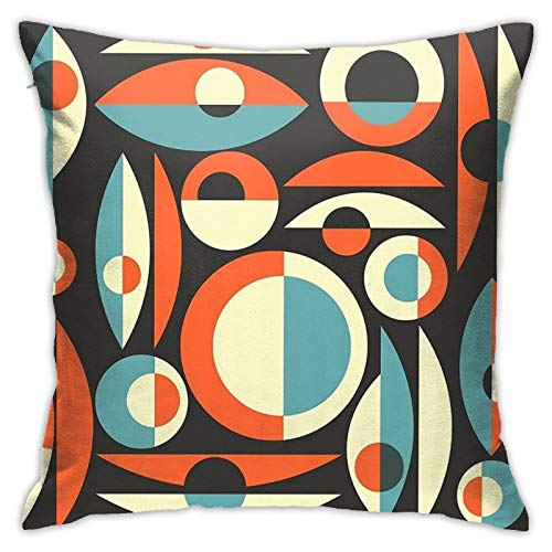 Retro Eames Era Pisces Bedroom Couch Sofa Throw Pillow Covers Home Decorative Square Pillow Case 18x18 Inch