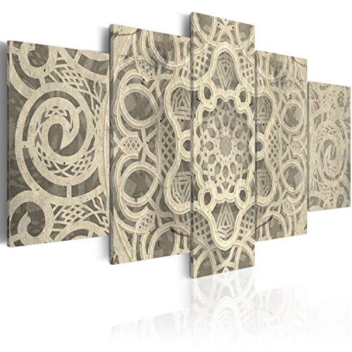 murando Cuadro en Lienzo Abstracto Mandala 200x100 cm Impresión de 5 Piezas Material Tejido no Tejido Impresión Artística Imagen Gráfica Decoracion de Pared Colorido Zen f-A-0582-b-m