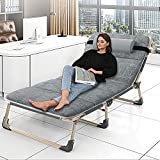 Reclining Chairs Patio, Portable Camping cots Outdoor Patio Folding Lounge Chair, Adjustable 4-Position Portable Folding Chaise Camping...