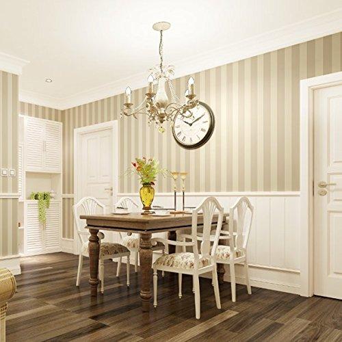 Huangyahui modo moderno, semplice, verticale righe carta da parati, camera da letto, soggiorno, divano, sfondo Clothing Shop, salone di bellezza, bianco e nero a righe carta da parati light beige