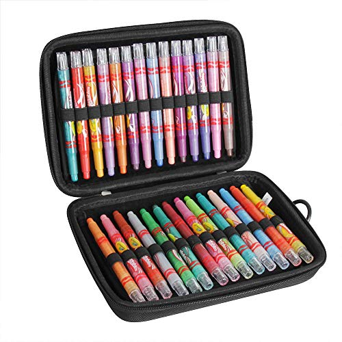 Hermitshell Travel Case for Crayola Twistables Crayons Coloring Set, Age 3+ - 56 Count (Only Case)