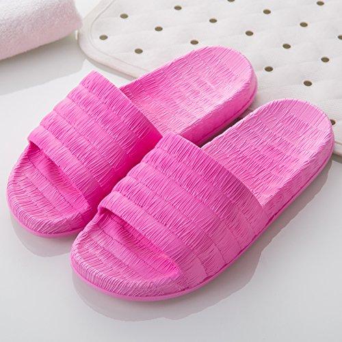 FankouDie Bäder sind kühl im Sommer Sandalen Frauen Hausschuhe in Ihrem Wohnzimmer. Die Gäste ein paar rutschfestem Kunststoff Pantoffeln männlichen Sommer, 35-36, rot