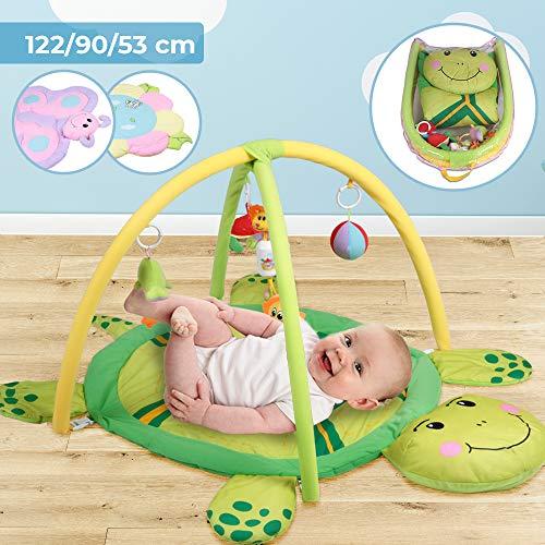 Infantastic Spieldecke mit Spielbogen - Größe: 122/90 cm, Designwahl, mit Soundspielzeug - Erlebnisdecke fur Baby, Krabbeldecke, Spielmatte, Spielteppich