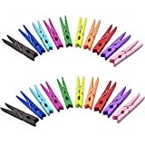 50PCS Colored Wooden Clothespins, 2.9inch 10 Color Clothes Pins for Clip Pictures Photos Decorative, Small Colorful Wood Decoration Closepins Clips,10 Color Each 5Pcs