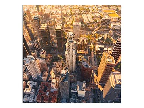kunst-discounter Los Angeles USA A06255 - Stampa su Tela Quadrata su Telaio