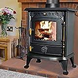 NRG Defra 5KW Multifuel Stove Eco Design Wood Burner Burning Freestanding Portable Fireplace Cast Iron