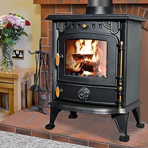 NRG Defra 5KW Multifuel Stove Eco Design Wood Burner Burning Freestanding Portable Fireplace Cast...