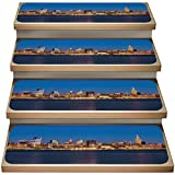 American 13-Pack Non-Slip Stair Mat,Midtown Manhattan and The Empire State Building at Night,Soft Stair Mat Rotection Kids, Elders, and Dogs Safety