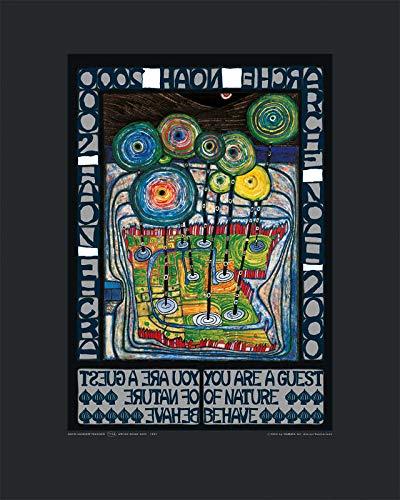Kunstdruck/Poster: Friedensreich Hundertwasser Arche Noah - hochwertiger Druck, Bild, Kunstposter, 40x50 cm