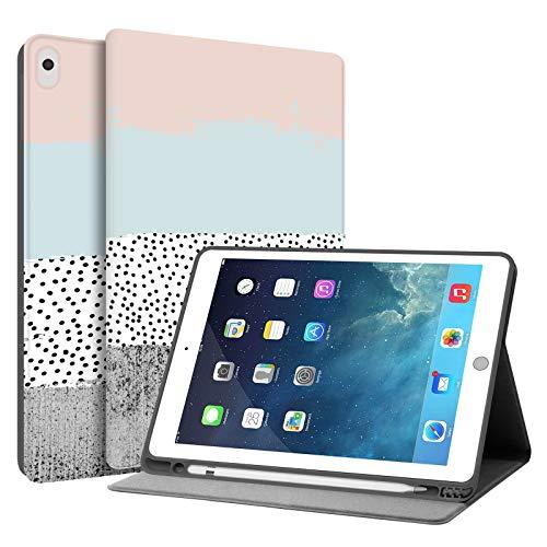 HUASIRU Pintura Caso Funda para iPad Air 3 (10.5 Pulgadas) y iPad Pro 10.5 Pulgadas 2017 sólo - Construir en Portalápices -Reposo/Activación, Colores
