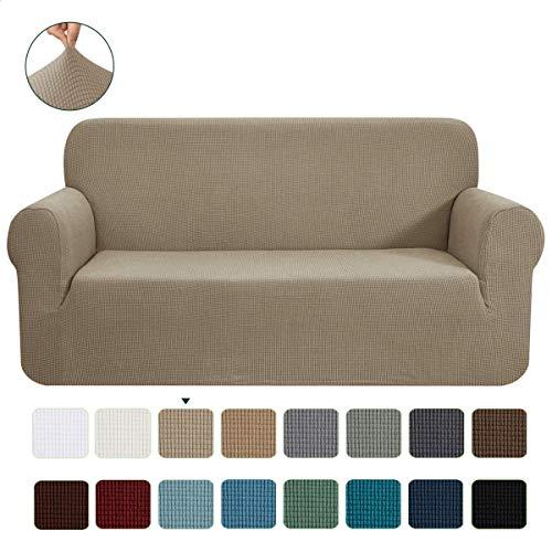 CHUN YI 1-Stück Jacquard Sofaüberwurf, Sofaüberzug, Sofahusse, Sofabezug für Sofa, Couch, Sessel, mehrere Farben (2 Sitzer, Sand)