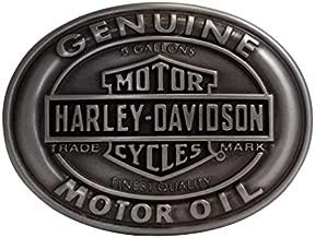 Harley-Davidson Men's Belt Buckle Genuine Motor Oil Bar & Shield HDMBU10662
