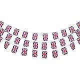 D DOLITY Nationalflagge Kette Fahnenkette Flaggenkette, Verschiedene Lände Flaggen Auswahl - Britische