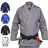 Valor Bravura BJJ GI Kimono color gris con cinturón blanco de regalo, A2