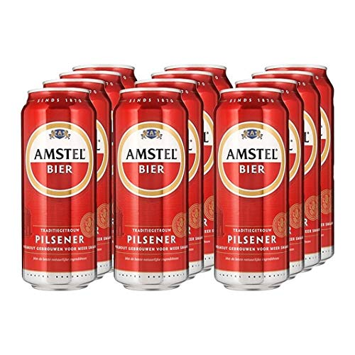 Amstel Pilsener 48x0.5L 5% Alkhohol - Niederländisches Premium Pils (Einweg-Dosen)