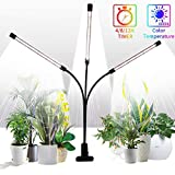 Grow Light for Indoor Plants,GHodec Tri-Head 75W 126LED Plant Lights for Small Plants,360° Gooseneck & Timer Setting 4/8/12H,5 Dimmable Levels
