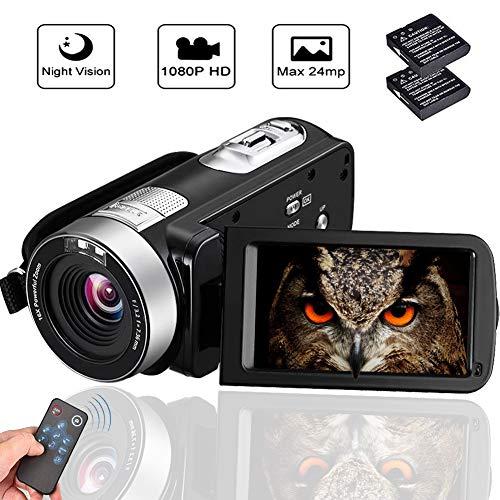 Camcorder Video Camera Full HD 1080p Vlogging Camera 18X Digital Zoom Night Vision...