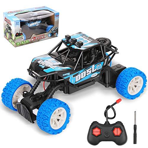 Coche teledirigido todoterreno con 2,4 GHz, recargable, coche de carreras de alta velocidad para niños y niñas