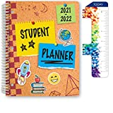 Dated Elementary Student Planner for Academic Year 2021-2022 (Matrix Style - 8.5'x11' - Corkboard) - Includes Ruler/Bookmark and Planning Stickers