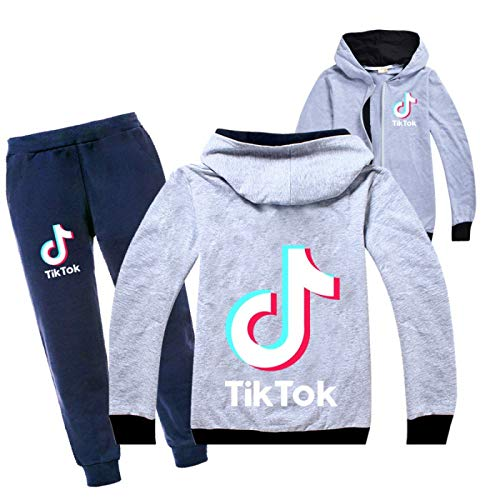 2-teiliges Set Sportswear Jogginganzug für Damen und Herren TikTok TikTok Fashion Cotton Cardigan Langarmanzug 130cm
