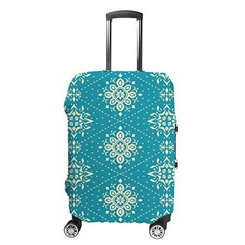 Ruchen - Funda protectora para maleta, estilo nórdico, diseño étnico, color azul
