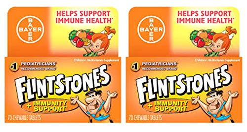 Flintstones Chewable Tablets Plus Immunity Support 60 Tablets (Pack of 2)