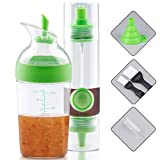 OPOLEMIN 2 Sets Dual Head Oil Bottle & Grips Salad Dressing Shaker for...