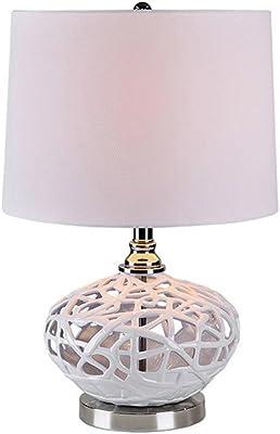 Eglo Lampada Da Tavolo Bianco Amazon It Illuminazione