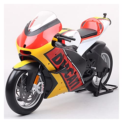 Boutique 1:6 For Large Ducati Desmosedici GP11 2011 Model Racing Moto Bike Diecast Toy Motorcycle Germany Italy Gift Boys (Color : Yellow)