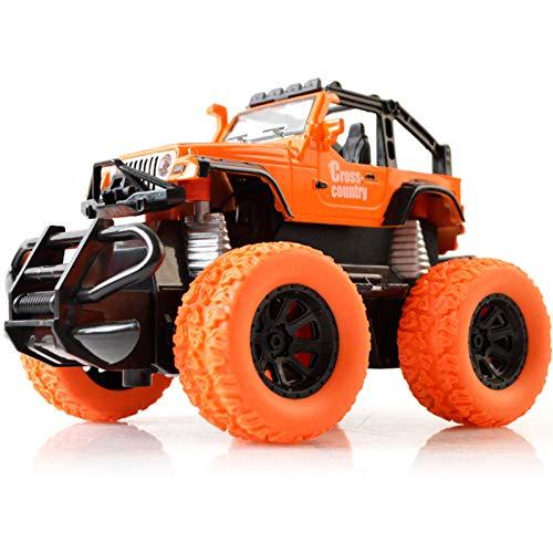 HSCW 1:28 Vehículo todoterreno con control remoto inalámbrico, neumáticos de goma grandes Cuerpo dominante Marco de protección anticaídas Coche de juguete con control remoto, Coche de juguete para niñ