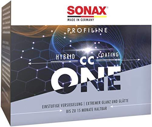 SONAX 2670000 PROFILINE HybridCoating CC One (50 ml) Langzeitversiegelung, mehr Farbtiefe und weiche schmutzabweisende wachsartige Oberflächen, bis zu 15 Monaten Schutz |Art-Nr.02670000, neutral