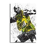 Usain Bolt Jamaika Leinwand-Kunst-Poster und