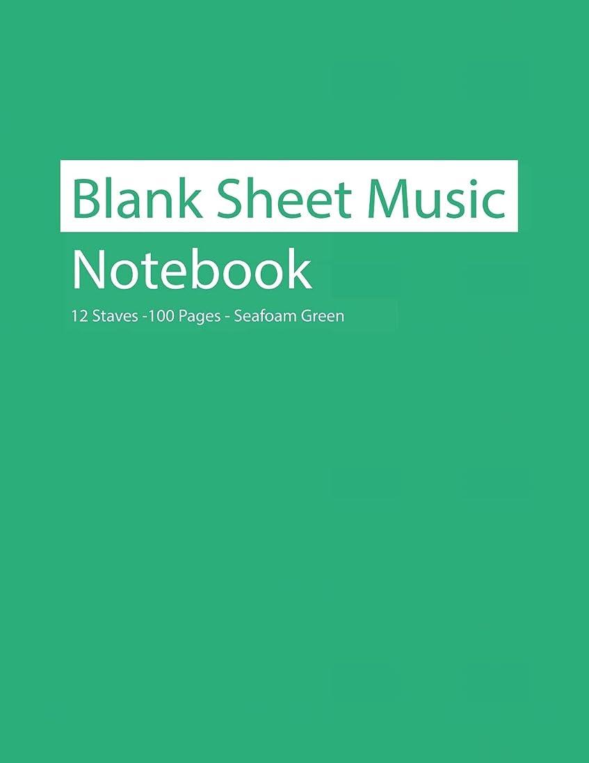 に勝る重量ポルトガル語Blank Sheet Music Notebook 12 Staves 100 Pages Seafoam Green