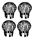 4er Set Dachrinnenschutz Plastik Fallrohrschutz Blättersieb Laubsieb Laubfang Regenrohrschutz Rinnensieb Blätterschutz Schutzgitter Laub Verschmutzung Moos