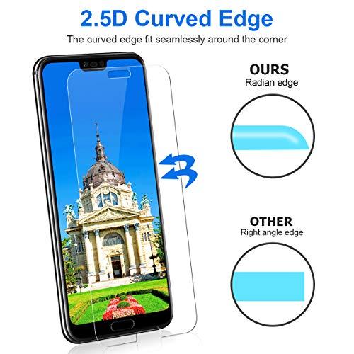 CRXOOX 3 Stück Schutzfolie für Huawei Honor 10 Panzerglas, 9H Härte HD Klar Displayschutzfolie, Anti-Kratzer/Bläschen/Fingerabdruck/Staub Einfache Installation Honor 10 Panzerglasfolie Folie - 5
