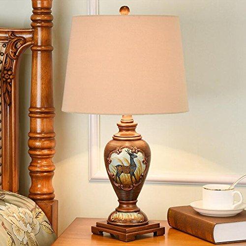 HZS Lámpara de cabecera del Dormitorio Americano Lámpara de decoración Deluxe Retro Moderno Simple Creativa Continental (Color : B)