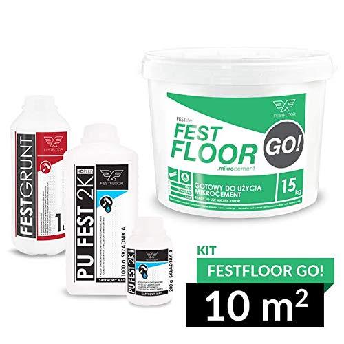 FESTFLOOR GO! – Kit Beton Ciré für Böden und Wände 10m² (Betonoptik), RAL-Palette (FF7035)