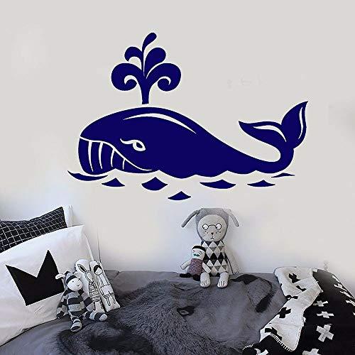 Ballena kindergarten etiqueta de la pared habitación de niño animal de dibujos animados lindo etiqueta de la pared de dibujos animados decoración del hogar etiqueta de la pared etiqueta del dormitorio