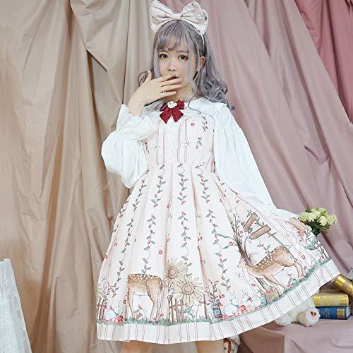 WSJYP Vestido De Hadas del Bosque,Lolita Angel Princess Dress Vestido Diario Princess Dress,Whiteshirt-L