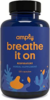 Amply Blends | Breathe It On | Herbal Supplement | Respiratory Support Capsules | 120-Count