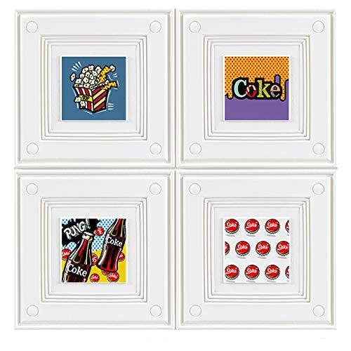 Wand-Aufkleber PVC-3D Wall Panels Brick Wall Panels 3D Peel and Stick for Home Office, Familie Schlafzimmer Hervorgehoben Walls Schmutzige Wände (Größe: 70x70cm) (Color : White, Size : 5 Pack)