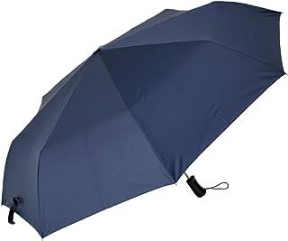 CAFEDIMLY(カフェディムリー)安全式自動開閉式折りたたみアンブレラ BIGな親骨70㎝サイズで手荷物までしっかりガード メンズ傘 安全式自動開閉折りたたみ傘 ネイビー 親骨70cm 風に強くて丈夫な耐風骨使用